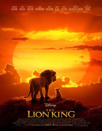 The Lion King 2019 Hindi ORG Dual Audio 600MB BluRay 720p ESubs HEVC