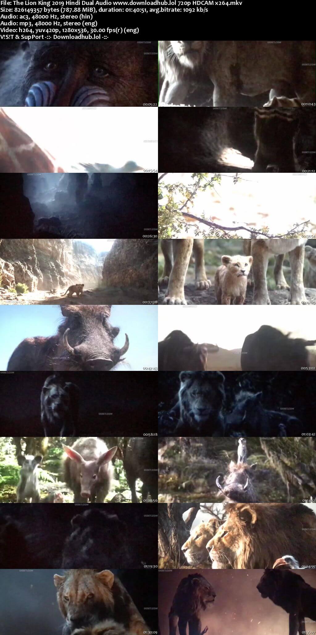 The Lion King 2019 Hindi Dual Audio 720p HDCAM x264
