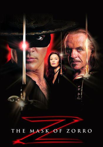 Poster of The Mask of Zorro 1998 Full Hindi Dual Audio Movie Download BluRay Hd 720p