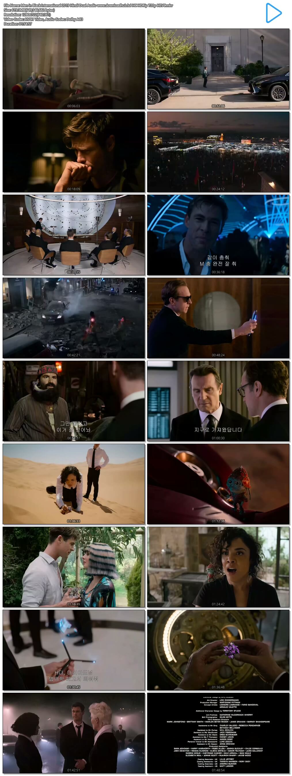 Men in Black International 2019 Hindi Dual Audio 600MB HC HDRip 720p HEVC