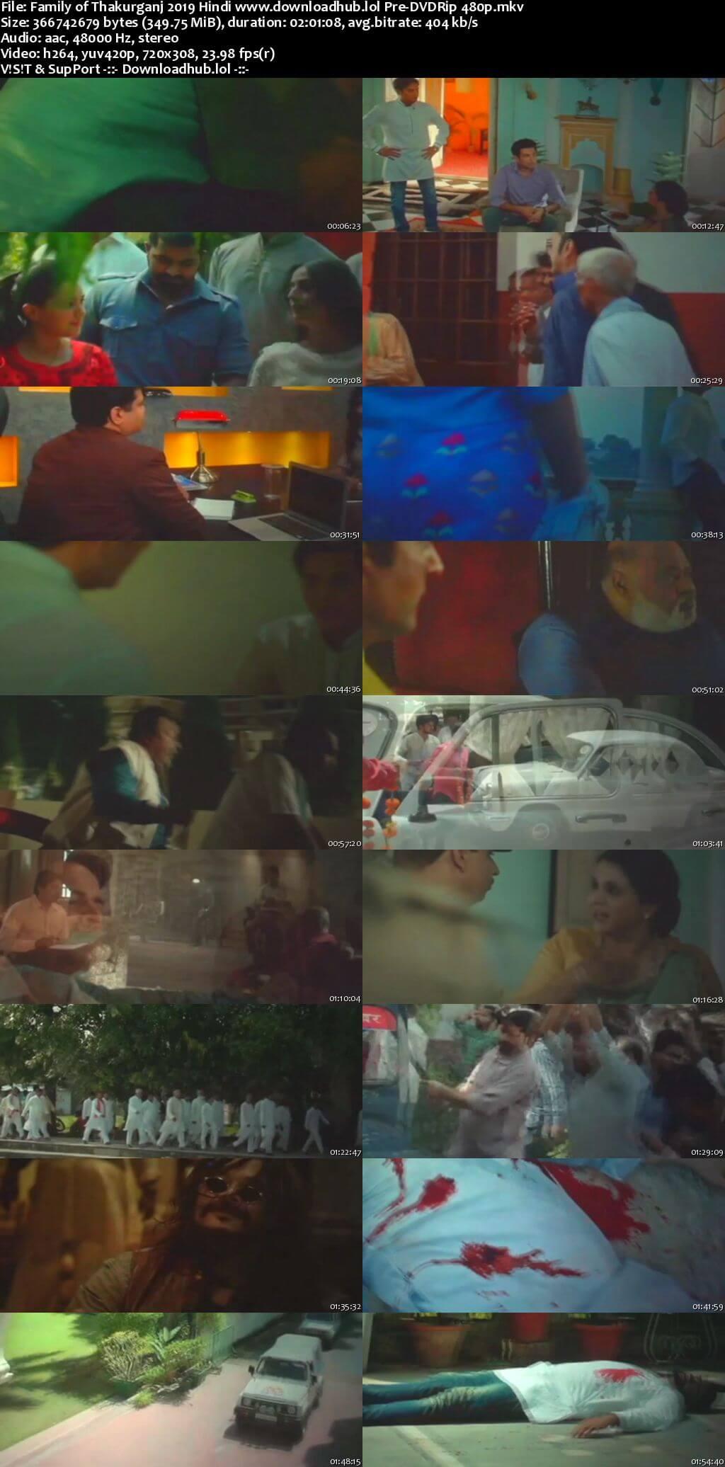 Family of Thakurganj 2019 Hindi 350MB Pre-DVDRip 480p