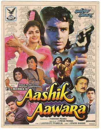 Aashik Aawara 1993 Hindi 720p HDRip ESubs