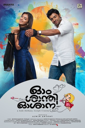 Ohm Shanthi Oshaana 2014 UNCUT Dual Audio Hindi Movie Download