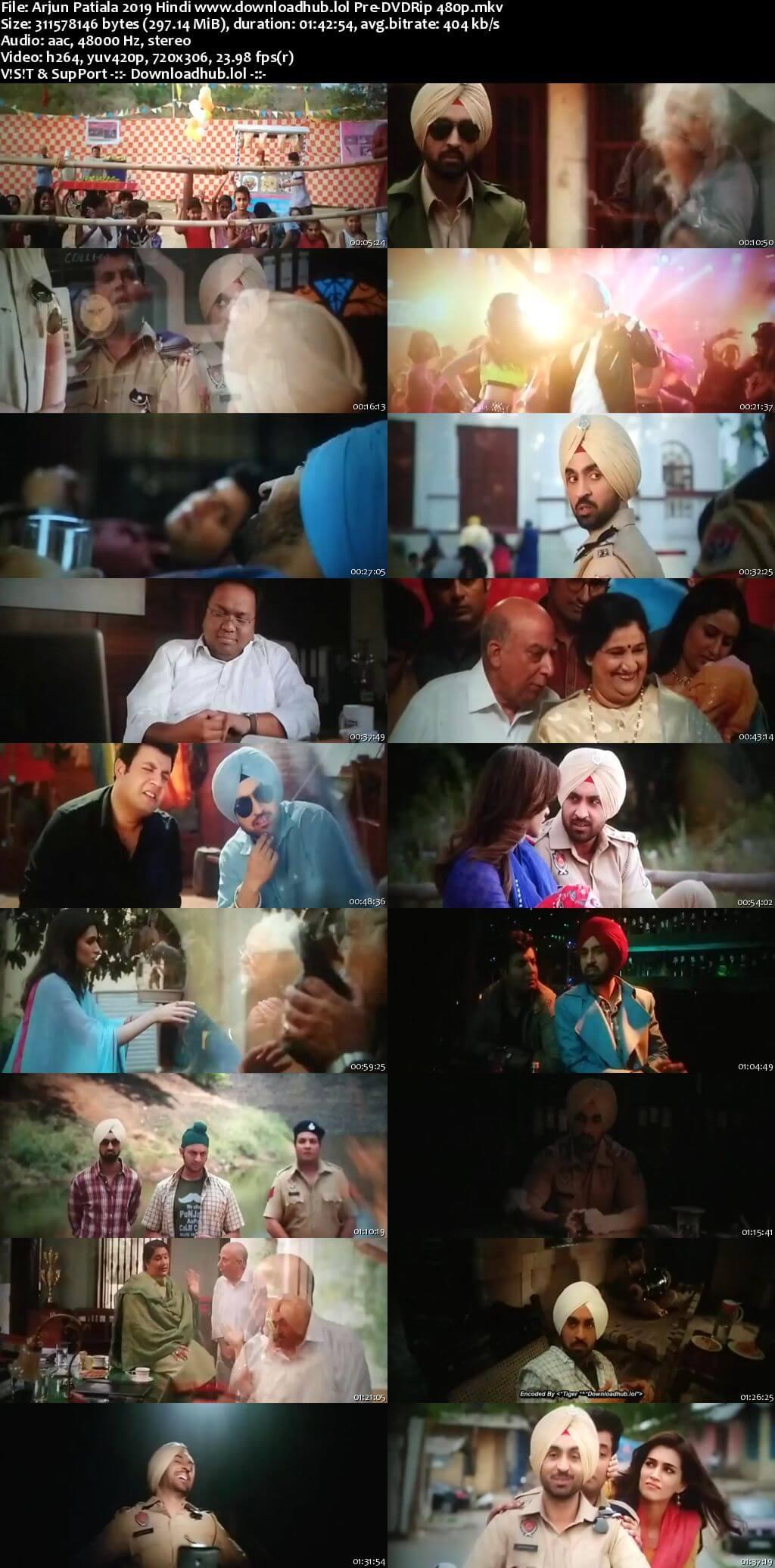 Arjun Patiala 2019 Hindi 300MB Pre-DVDRip 480p