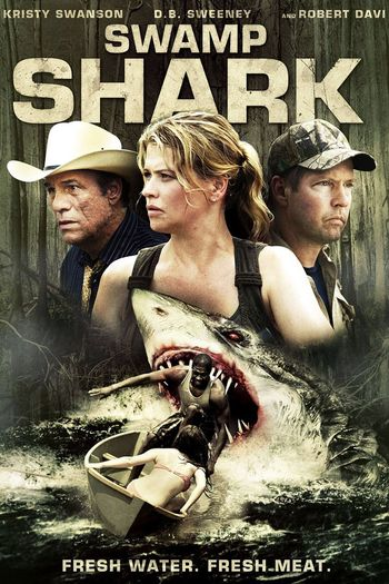 Poster of Swamp Shark 2011 Full Hindi Dual Audio Movie Download BluRay Hd 720p