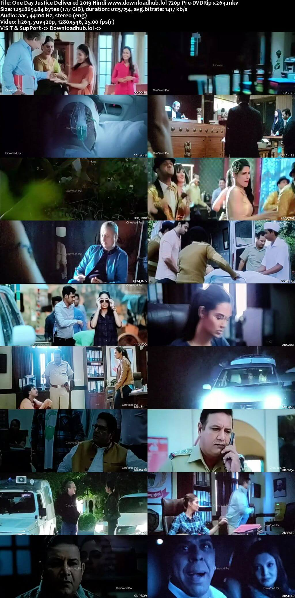 One Day Justice Delivered 2019 Hindi 720p Pre-DVDRip x264