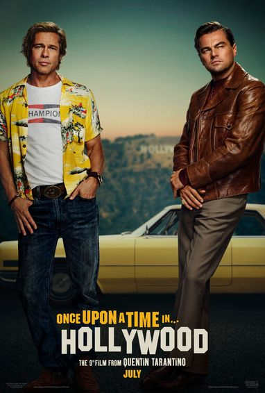 Poster of Once Upon a Time In Hollywood 2019 Full English Free Download Watch Online In HD Movie Download 720p HDCAM