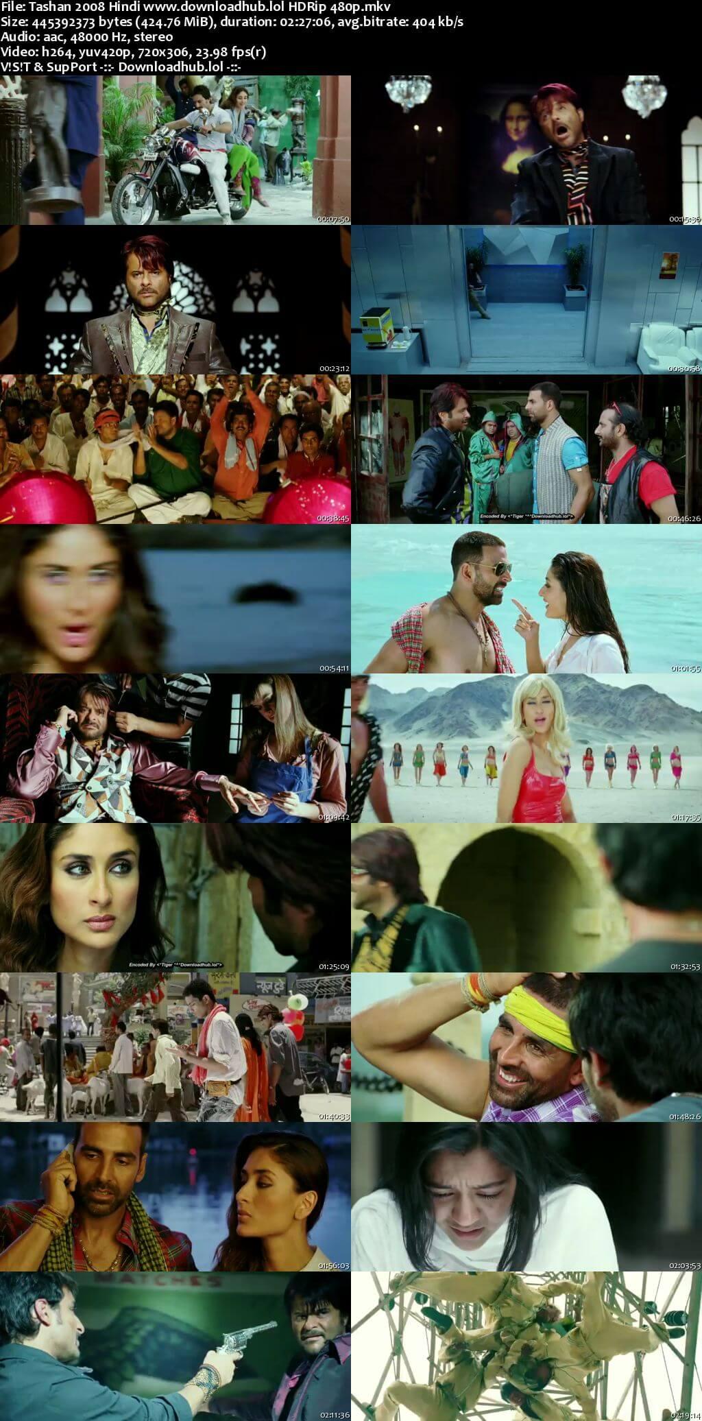 Tashan 2008 Hindi 400MB HDRip 480p