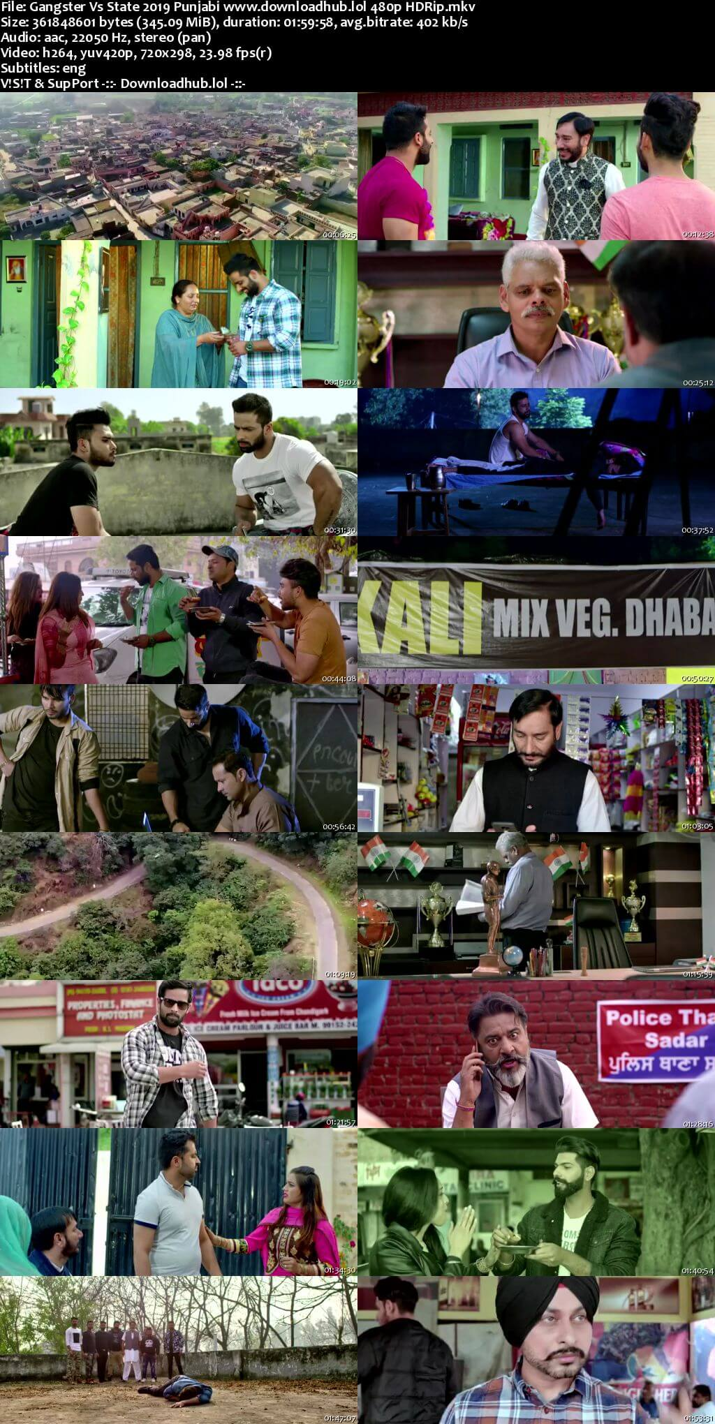 Gangster Vs State 2019 Punjabi 350MB HDRip 480p ESubs