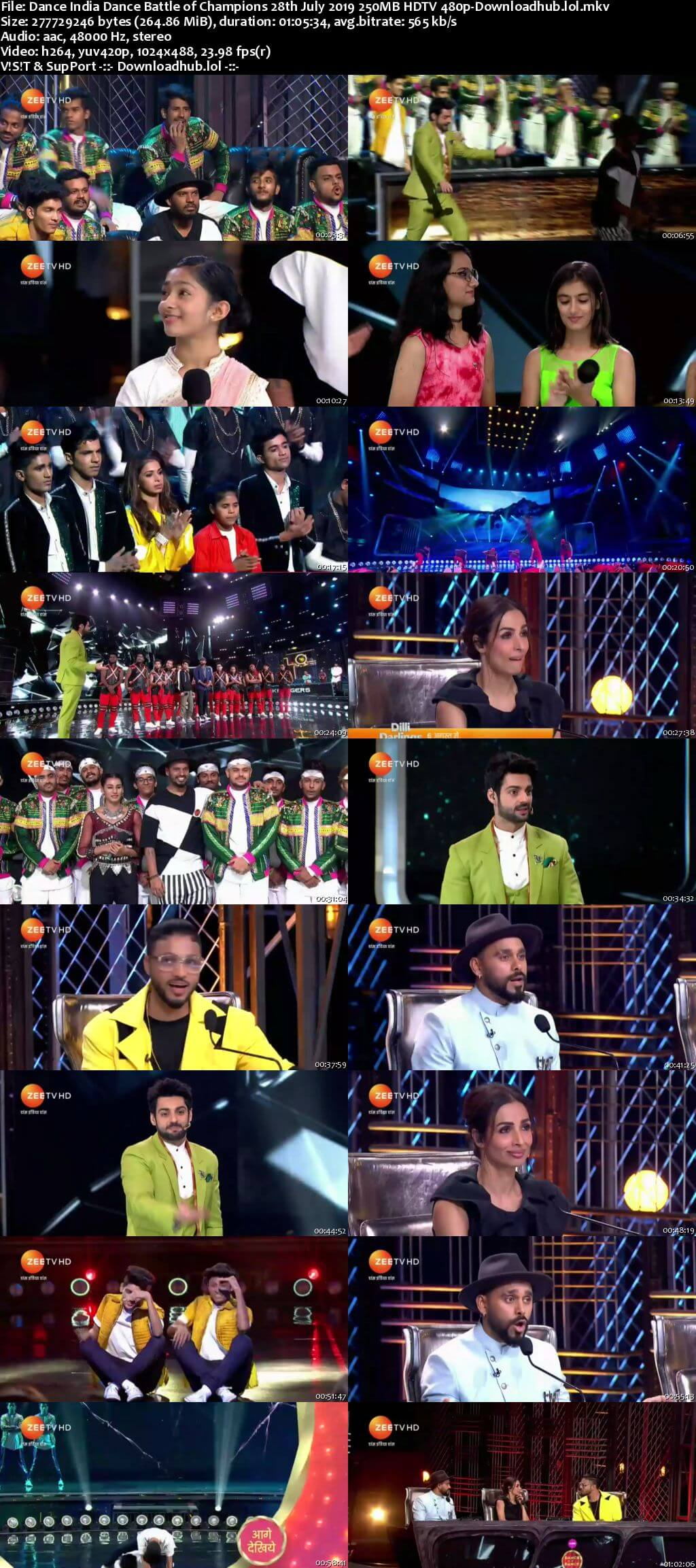 Dance India Dance 28 July 2019 Episode 12 HDTV 480p
