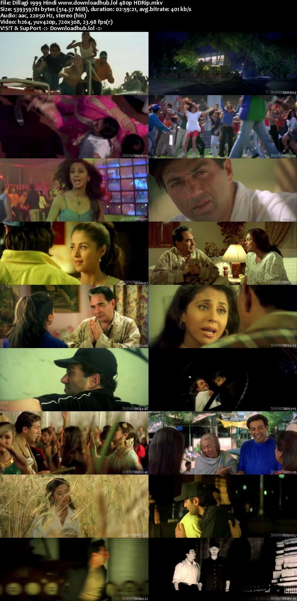 Dillagi 1999 Hindi 500MB HDRip 480p