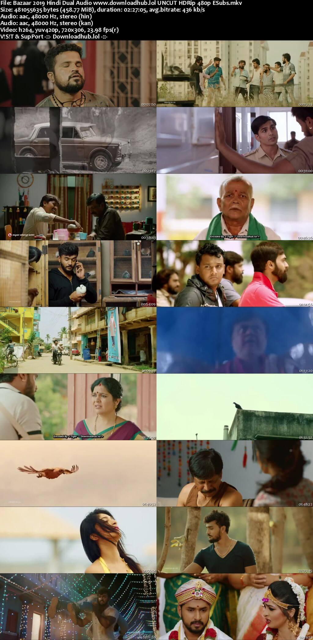 Bazaar 2019 Hindi Dual Audio 450MB UNCUT HDRip 480p ESubs
