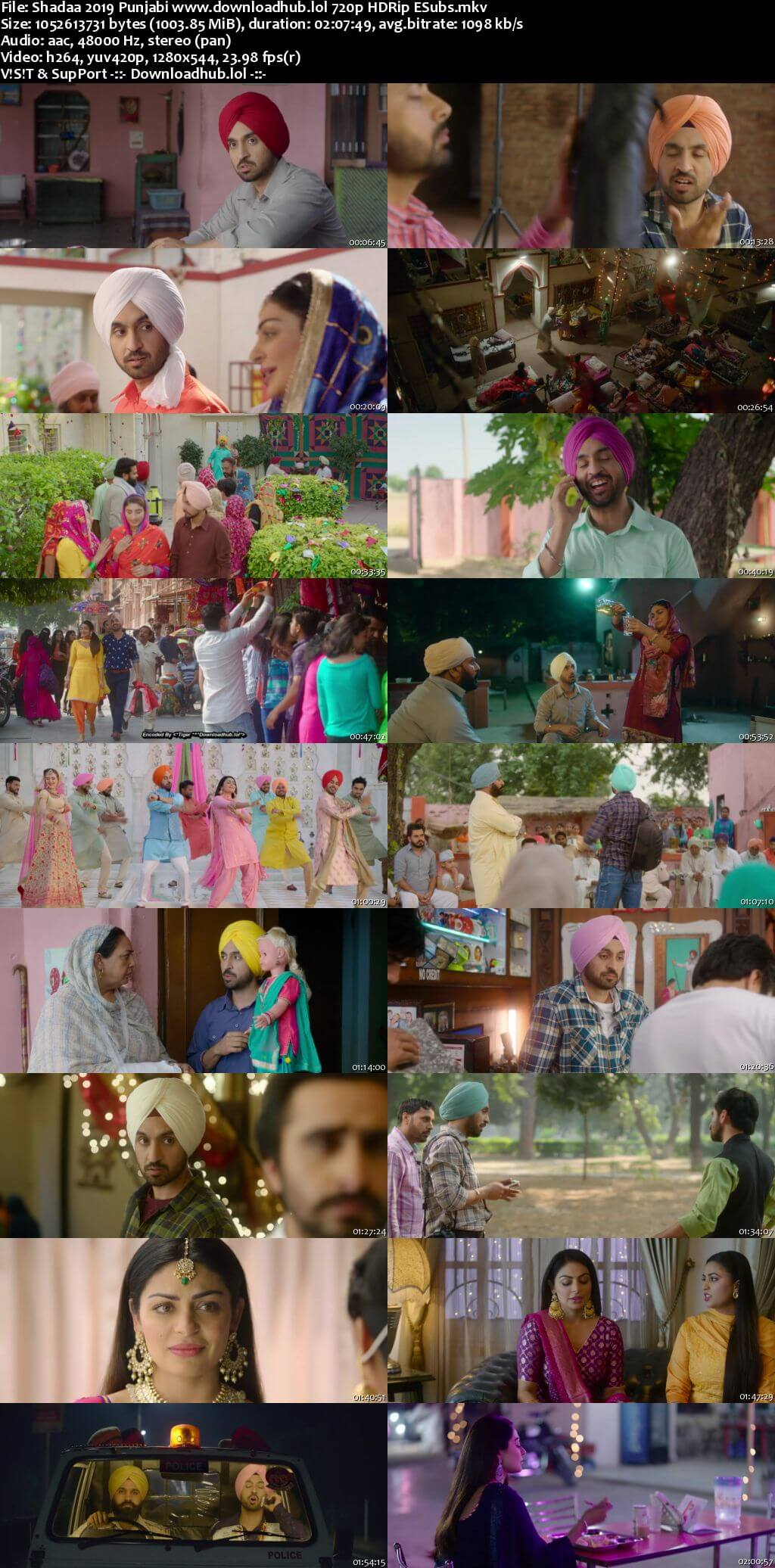Shadaa 2019 Punjabi 720p HDRip ESubs