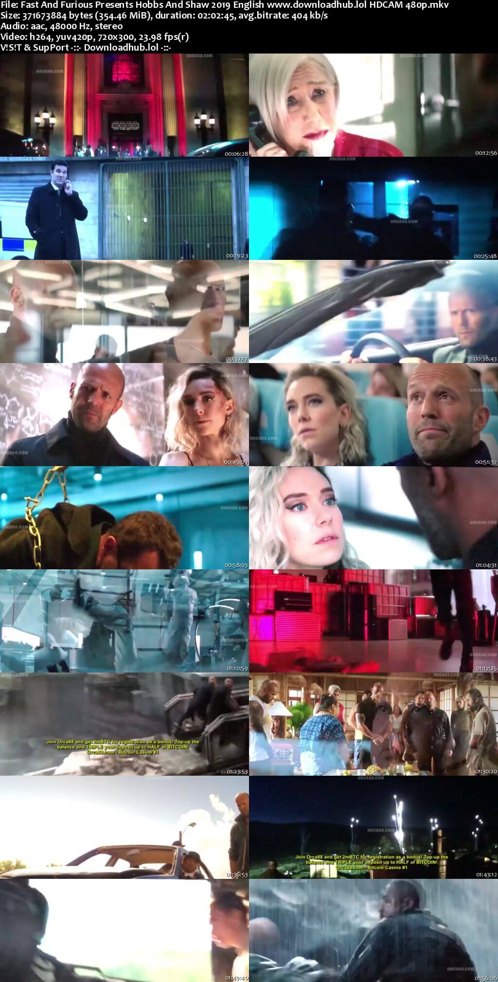 Fast And Furious Presents Hobbs And Shaw 2019 English 350MB HDCAM 480p