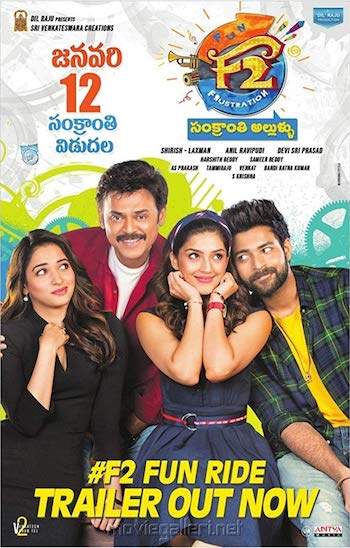 F2 Fun And Frustration 2019 UNCUT Dual Audio Hindi 720p HDRip 1.1GB