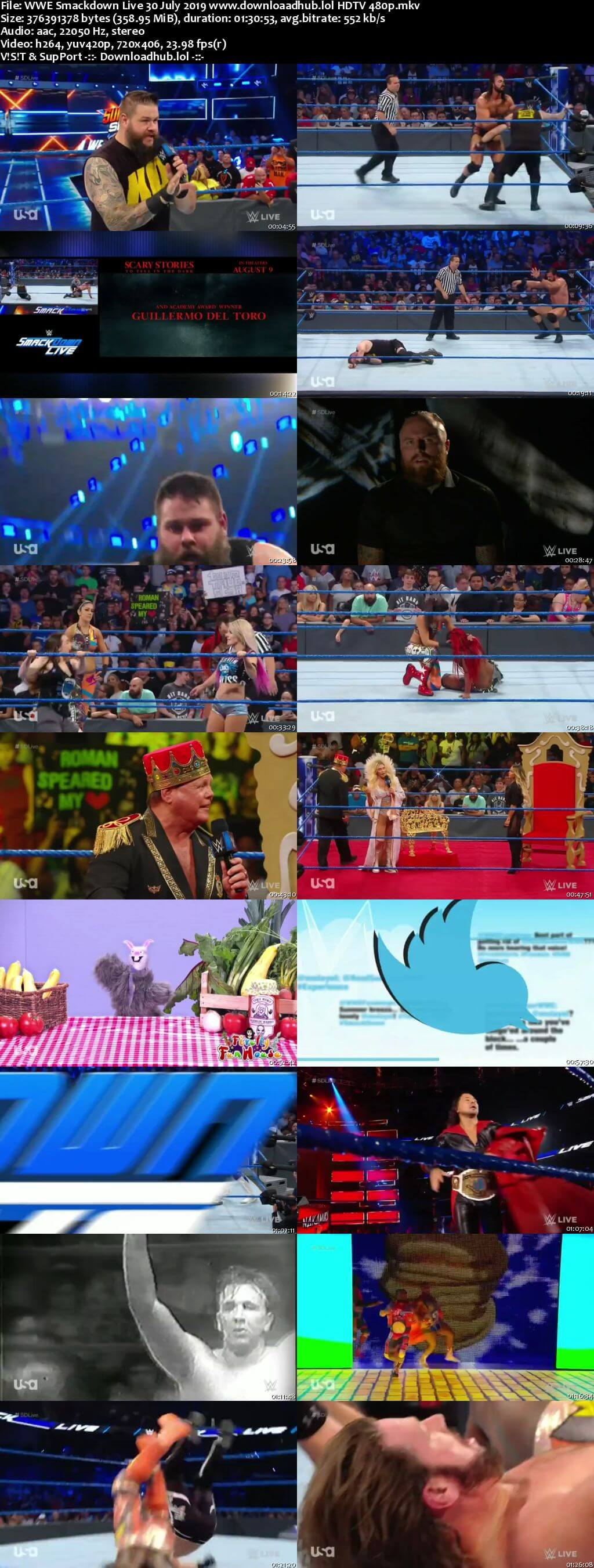 WWE Smackdown Live 30th July 2019 300MB HDTV 480p