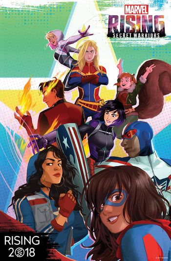 Poster of Marvel Rising: Secret Warriors 2018 Full Hindi Dual Audio Movie Download HDRip HD Movies point 720p