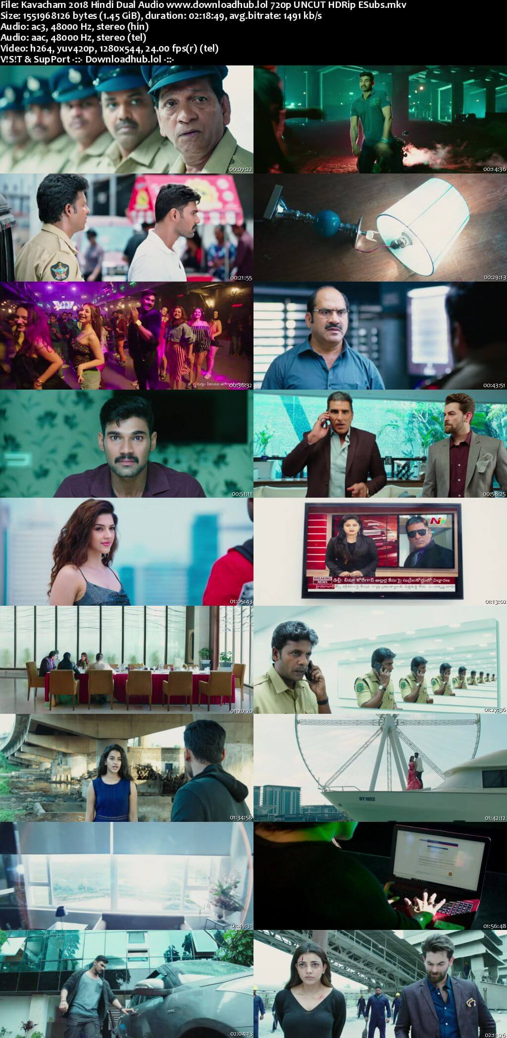 Kavacham 2018 Hindi Dual Audio 720p UNCUT HDRip ESubs