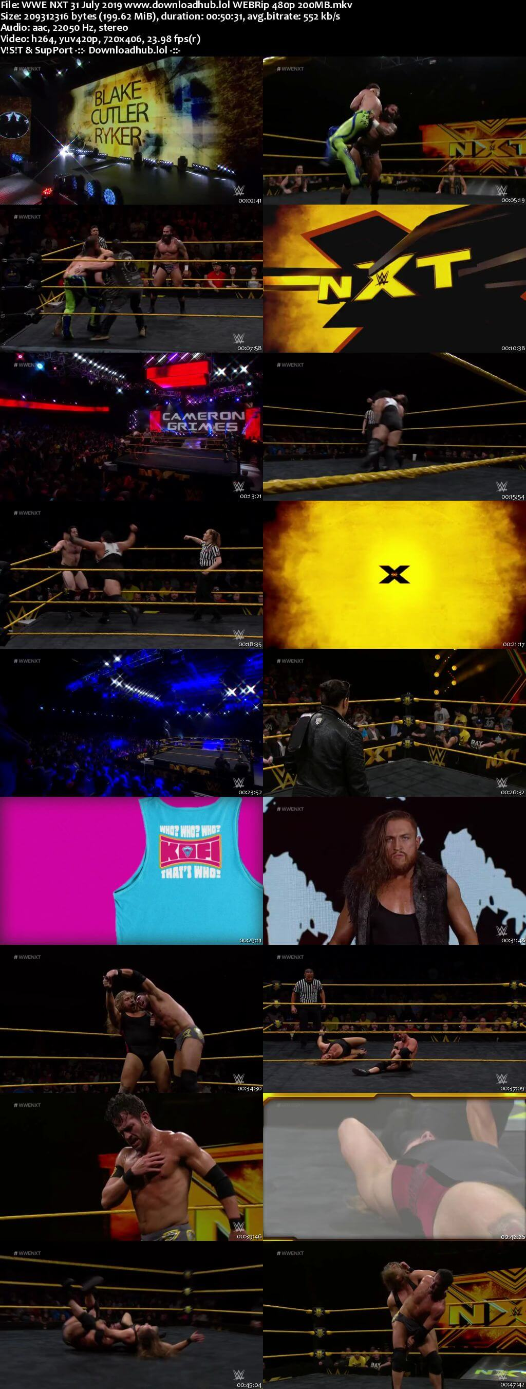 WWE NXT 31st July 2019 200MB HDTV 480p