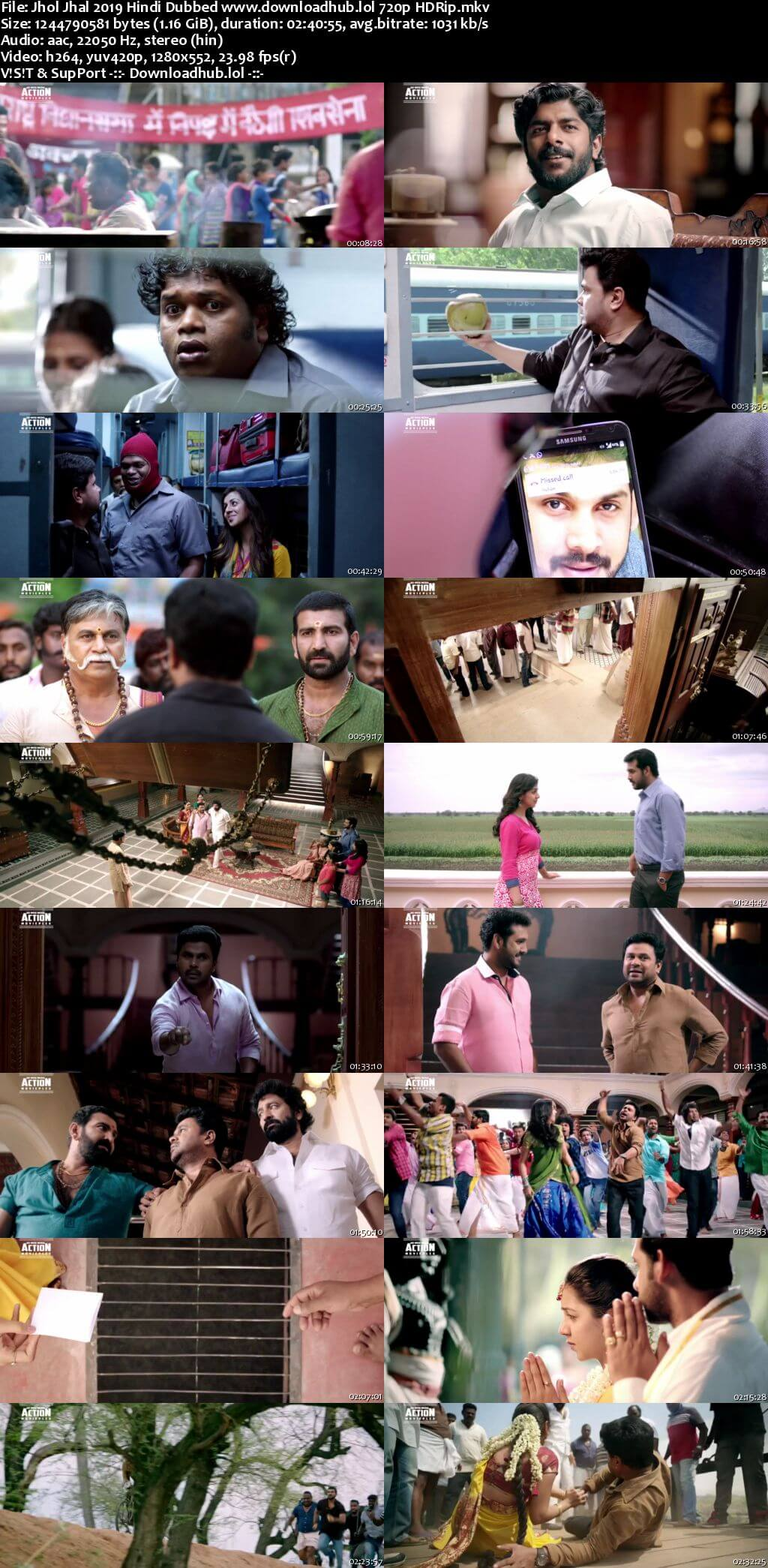 Jhol Jhal 2019 Hindi Dubbed 720p HDRip x264