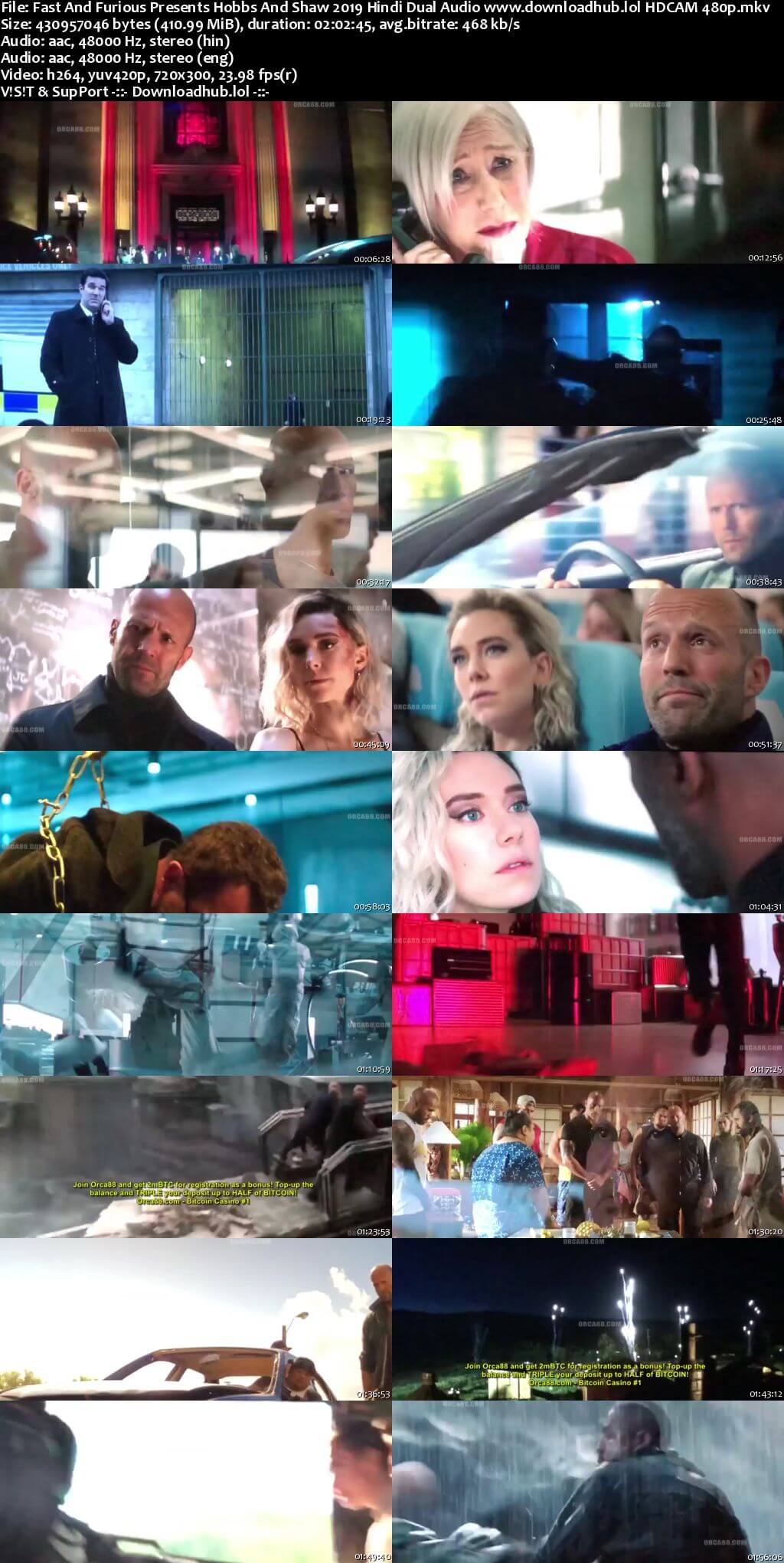 Fast And Furious Presents Hobbs And Shaw 2019 Hindi Dual Audio 400MB HDCAM 480p