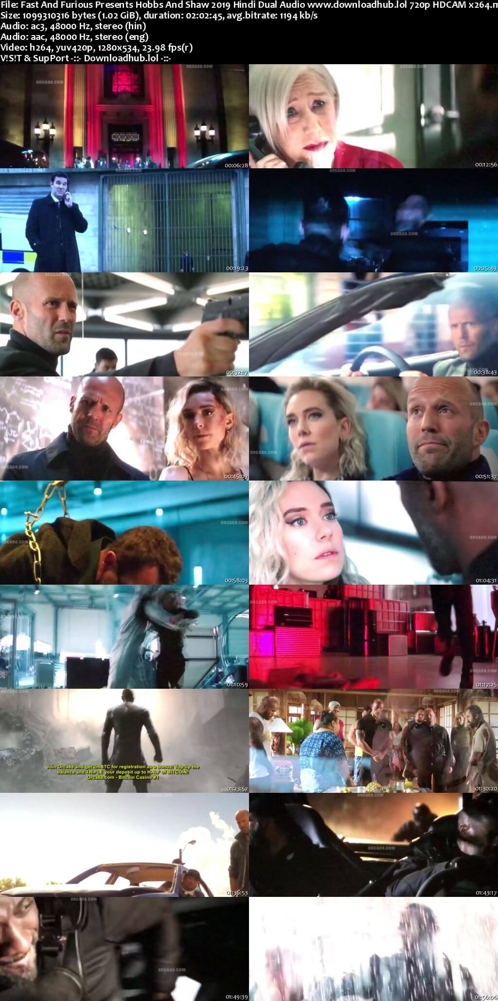 Fast And Furious Presents Hobbs And Shaw 2019 Hindi Dual Audio 720p HDCAM x264