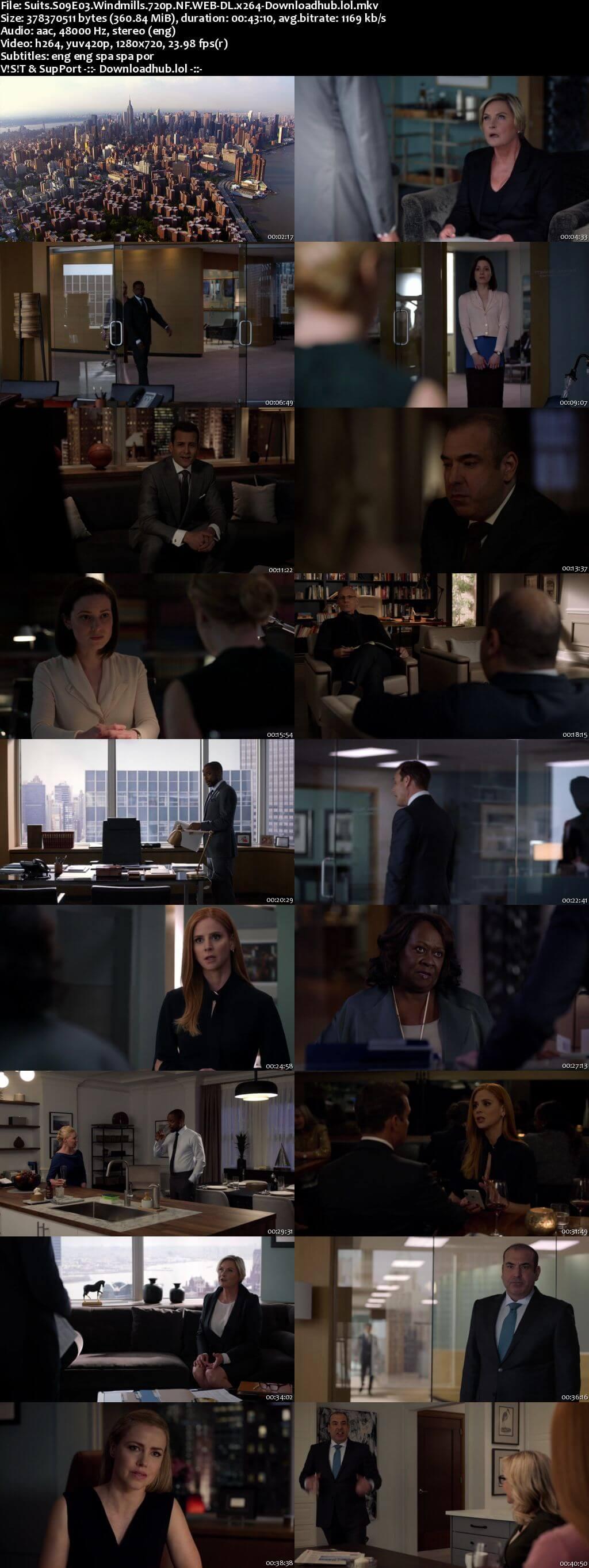 Suits S09E03 350MB Web-DL 720p x264 ESubs