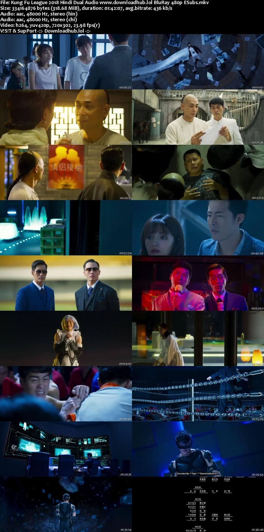 Kung Fu League 2018 Hindi Dual Audio 300MB BluRay 480p ESubs