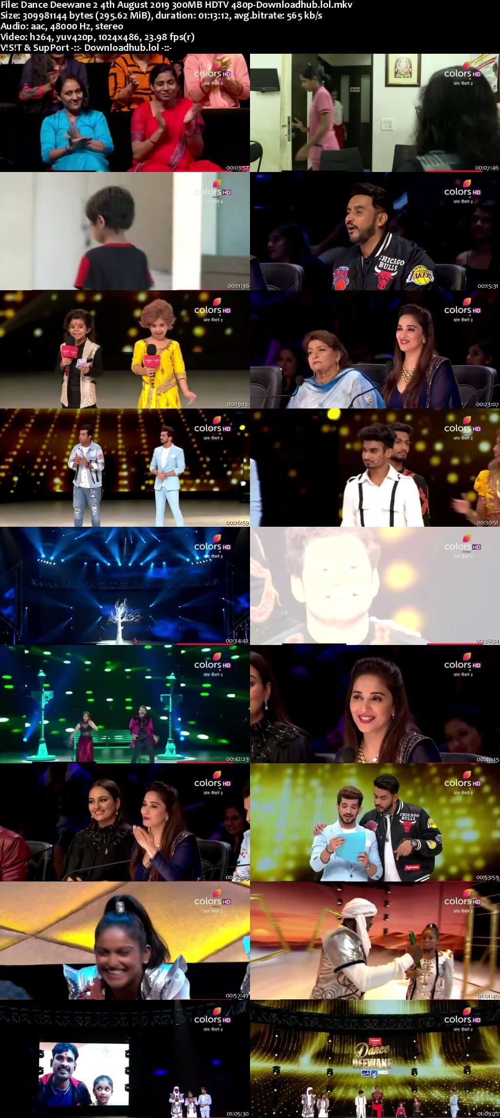Dance Deewane 2 04 August 2019 Episode 16 HDTV 480p