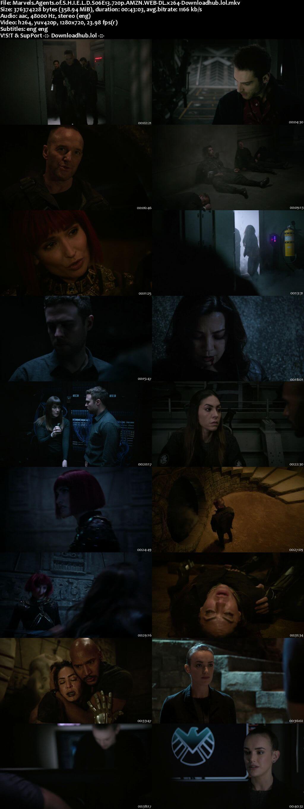 Marvels Agents of S.H.I.E.L.D S06E13 350MB AMZN WEB-DL 720p ESubs