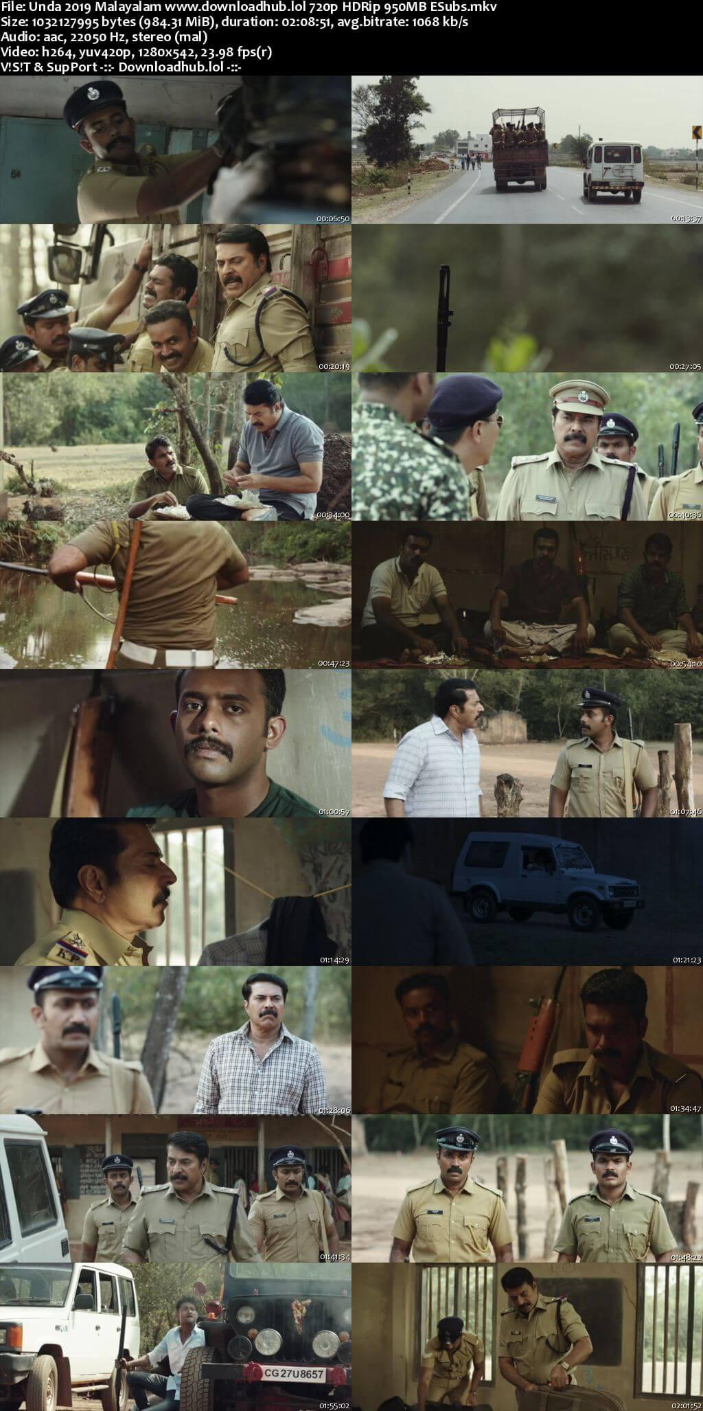 Unda 2019 Malayalam 720p HDRip ESubs