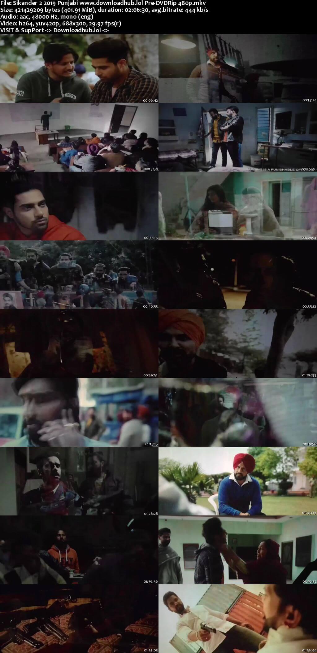 Sikander 2 2019 Punjabi 400MB Pre-DVDRip 480p