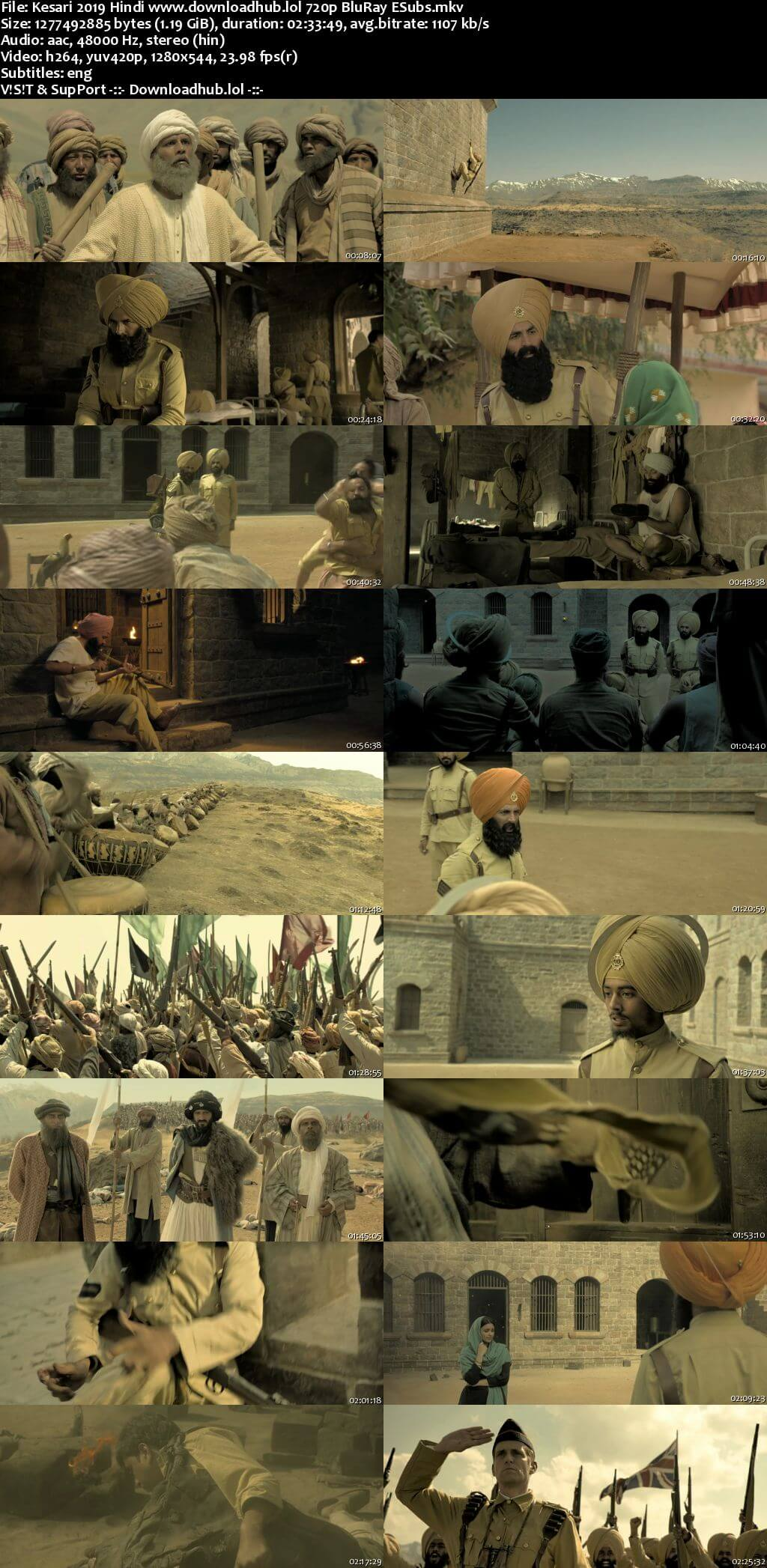 Kesari 2019 Hindi 720p BluRay ESubs