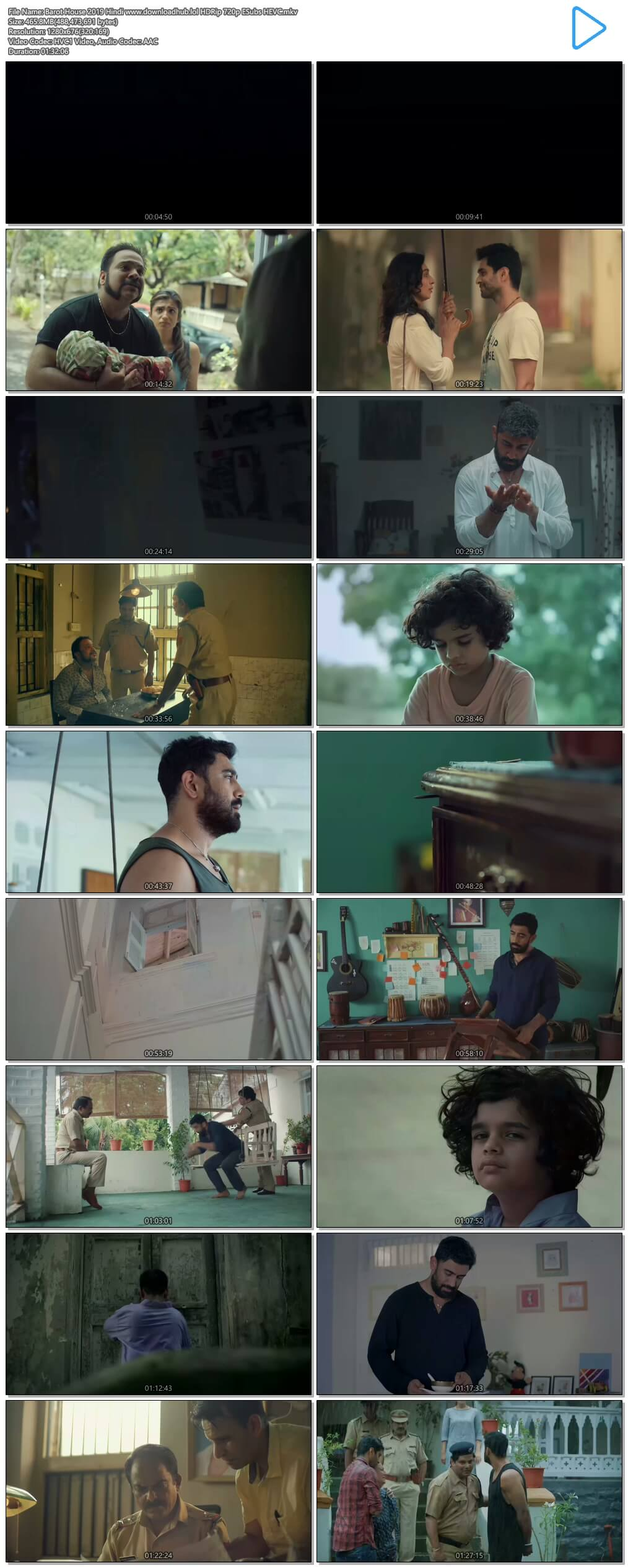 Barot House 2019 Hindi 450MB HDRip 720p ESubs HEVC