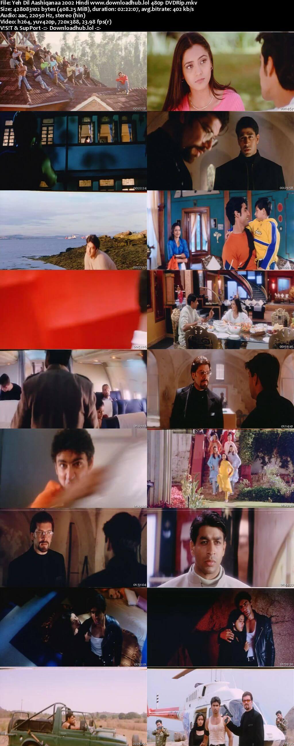 Yeh Dil Aashiqanaa 2002 Hindi 400MB DVDRip 480p