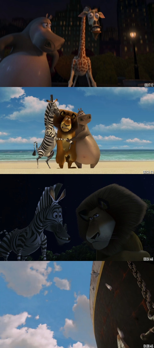 Madagascar 2005 BRRip 720p 480p Dual Audio Hindi English Full Movie Download