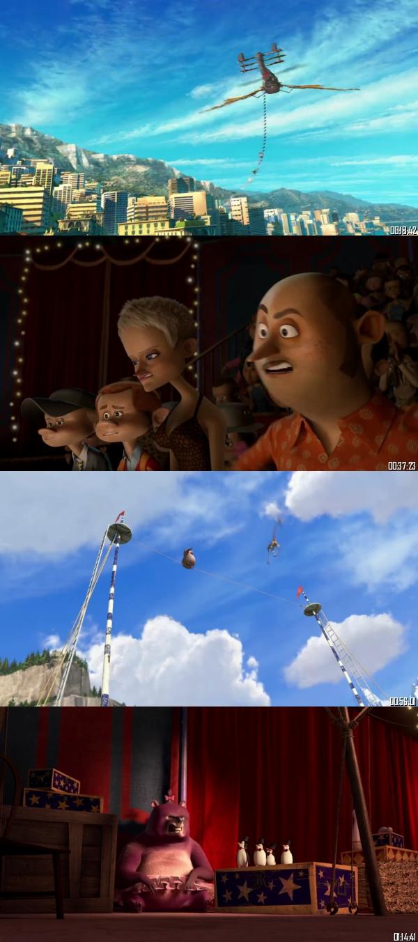 Madagascar 3 - Europes Most Wanted 2012 BRRip 720p 480p Dual Audio Hindi English Full Movie Download