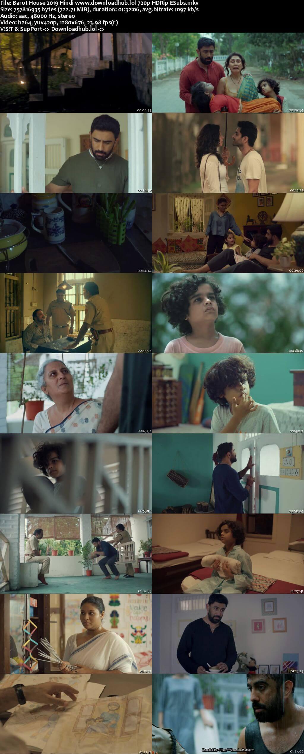 Barot House 2019 Hindi 720p HDRip ESubs