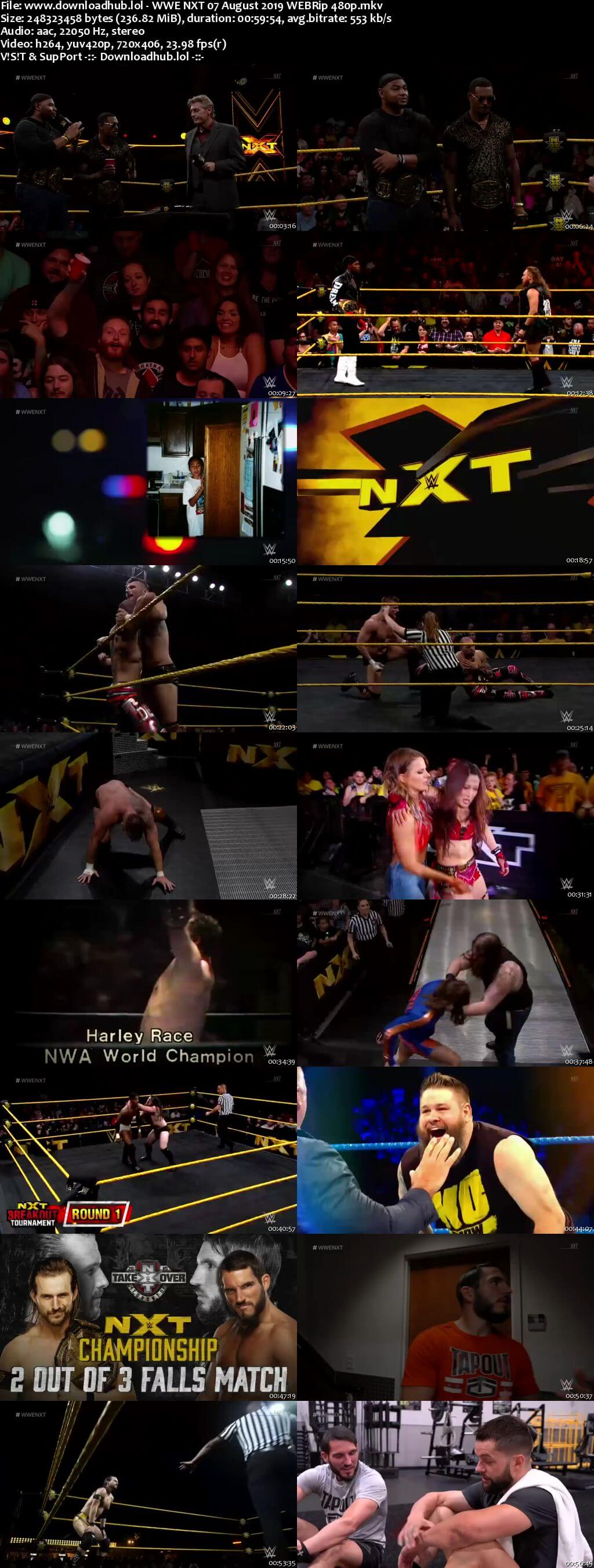 WWE NXT 7th August 2019 200MB HDTV 480p