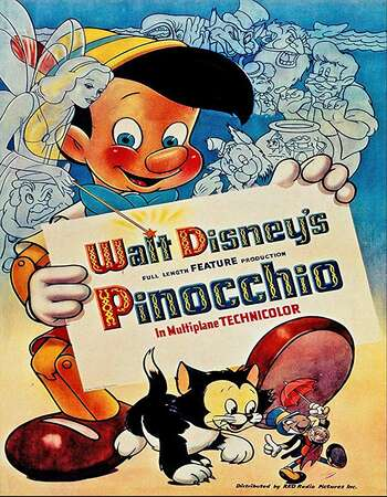 Pinocchio 1940 Hindi Dual Audio BRRip Full Movie 720p Download