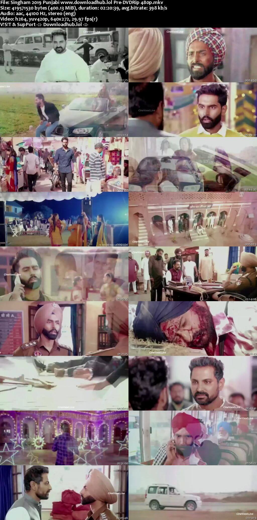 Singham 2019 Punjabi 400MB Pre-DVDRip 480p