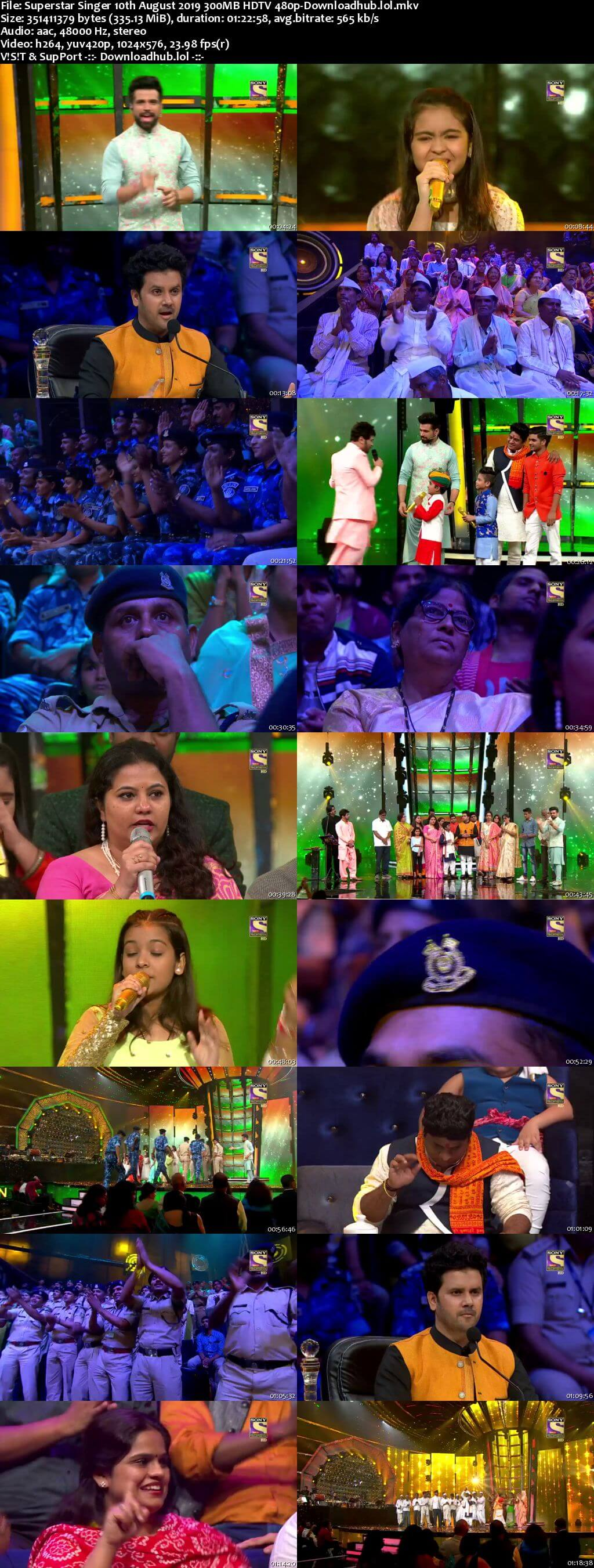 Superstar Singer 10 August 2019 Episode 13 HDTV 480p