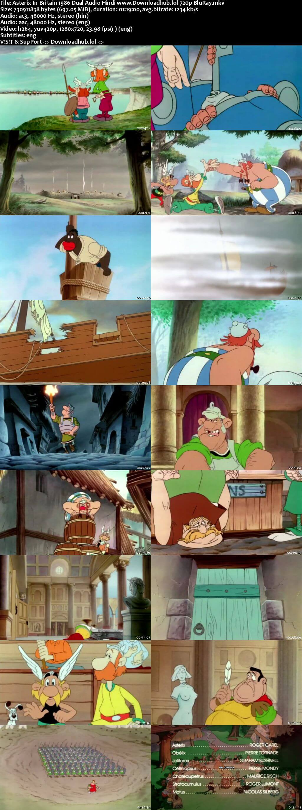 Asterix in Britain 1986 Hindi Dual Audio 720p BluRay ESubs