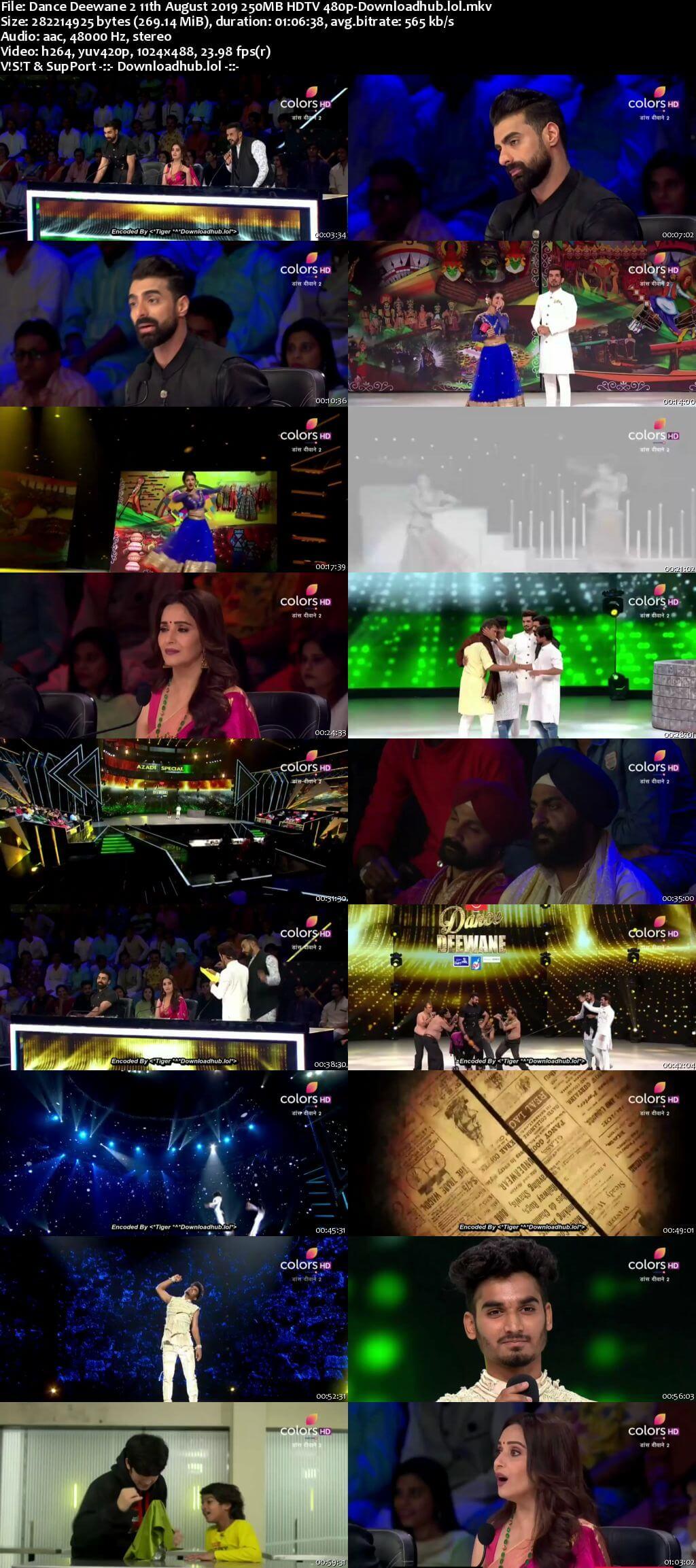 Dance Deewane 2 11 August 2019 Episode 18 HDTV 480p