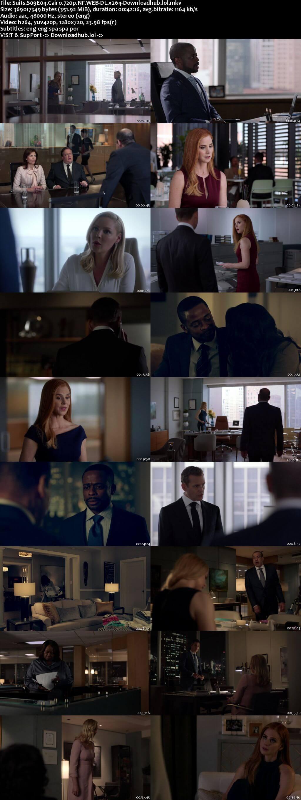 Suits S09E04 350MB Web-DL 720p x264 ESubs