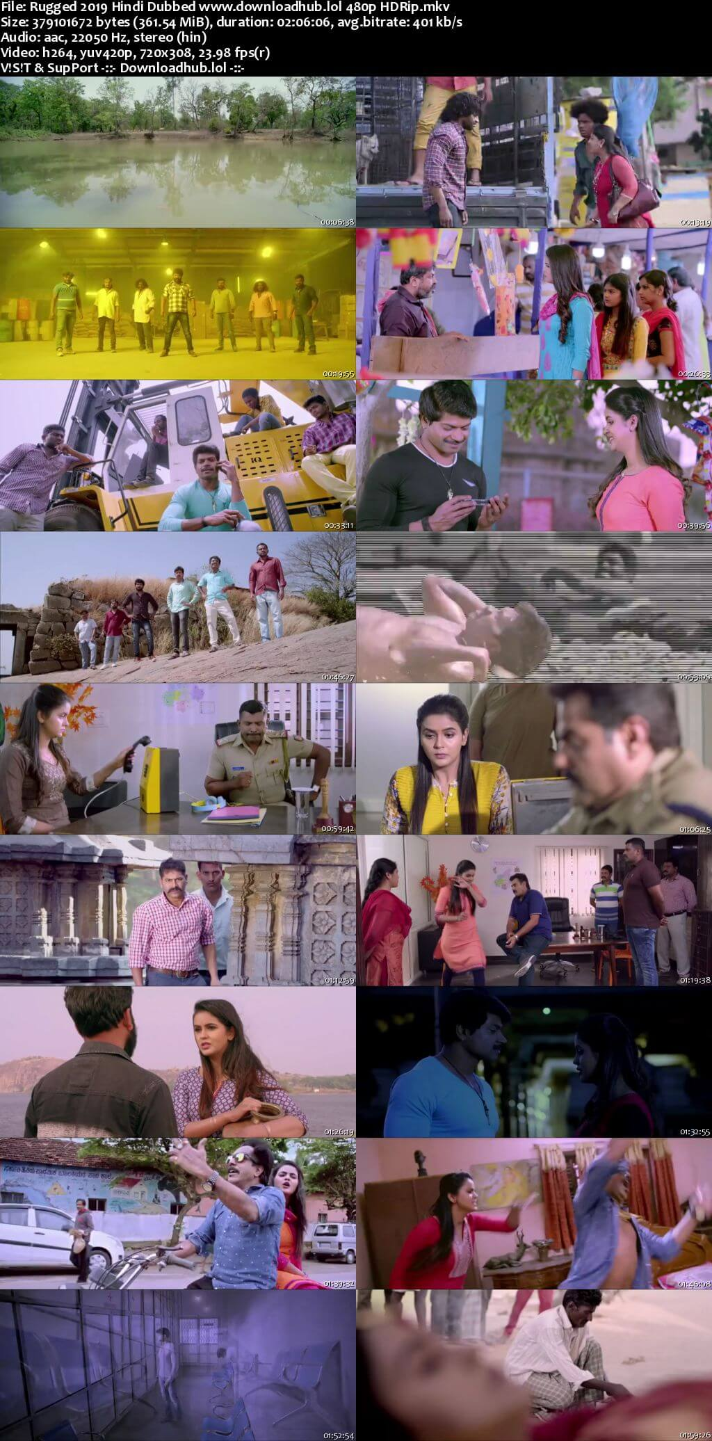 Rugged 2019 Hindi Dubbed 350MB HDRip 480p