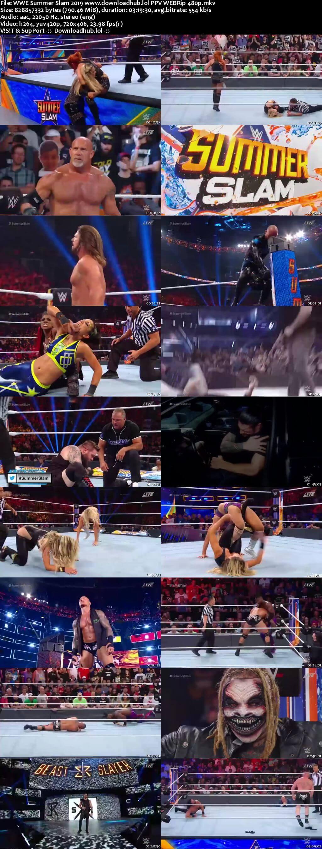 WWE SummerSlam 11th August 2019 800MB PPV WEBRip 480p