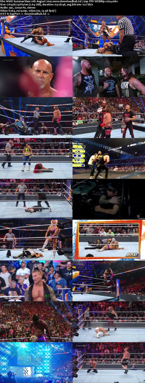 WWE SummerSlam 11th August 2019 720p PPV WEBRip x264