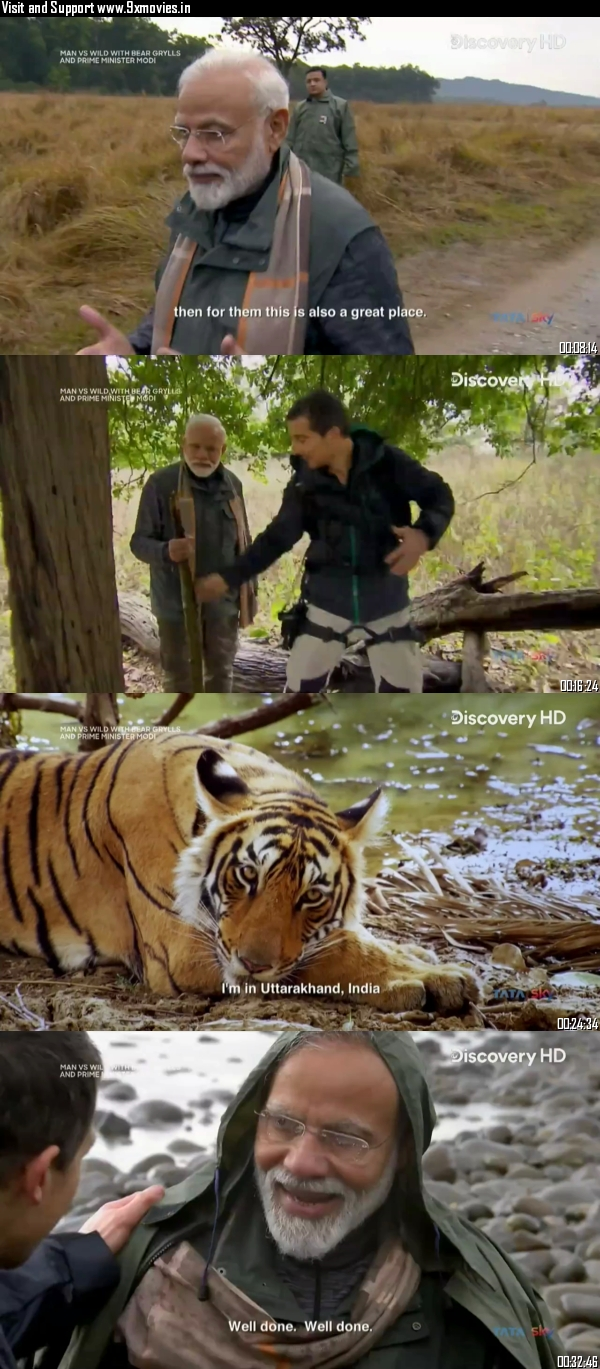 Man vs Wild ft PM Narendra Modi 12 Aug 2019 Hindi 720p HDTV 300MB