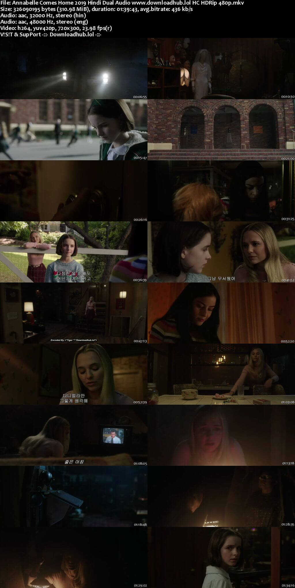 Annabelle Comes Home 2019 Hindi Dual Audio 300MB HC HDRip 480p